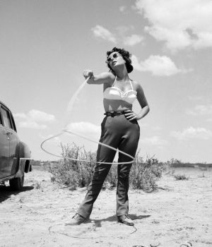 Elizabeth Taylor with a Lasso, Giant 1955 by