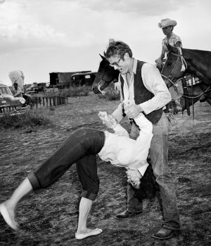 Elizabeth Taylor Flipping with James Dean by