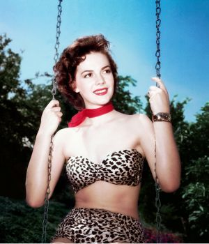 Natalie Wood on Swing by Frank Worth