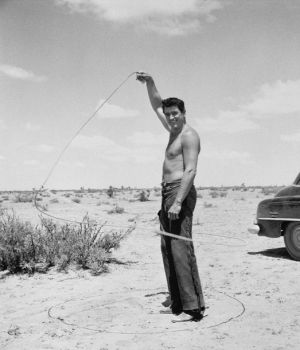 Rock Hudson with Lasso, Giant 1959 by
