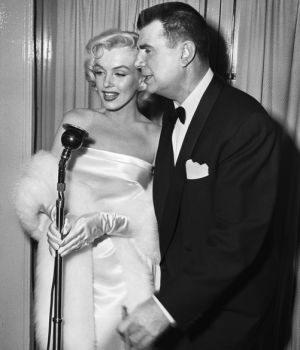 Marilyn Monroe Being Interviewed   by Frank Worth