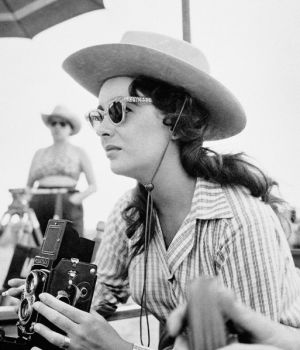 "Elizabeth Taylor on Set of ""Giant""  by"