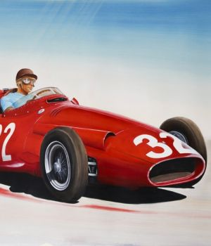 Juan Manuel Fangio, Maserati F250, May 1957 by