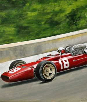 Lorenzo Bandini, Ferrari 312, May 1967 by