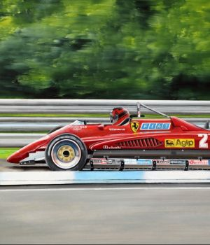 Gilles Villeneuve, Ferrari 126C, May 1982 by