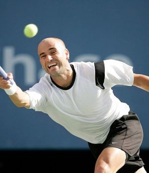 Agassi at the Open by