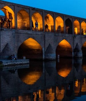 Late Afternoon on the Bridge, Esfahan, Iran by Dorte Verner