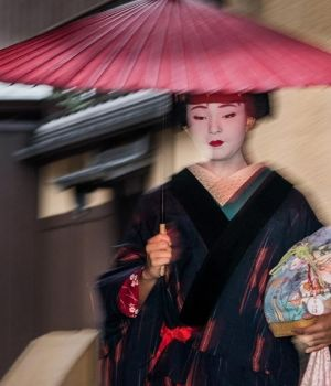 Geisha in the Rain (A) by