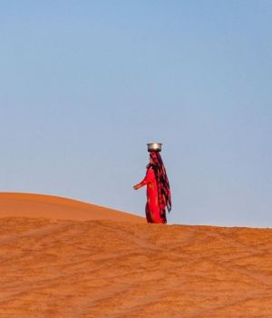 Woman in the Desert by