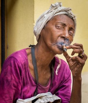 A Smoking Woman by