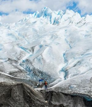 Hiking on a Glacier by