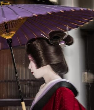 Geisha in the Rain (B) by