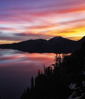 Crater Lake Sunrise by