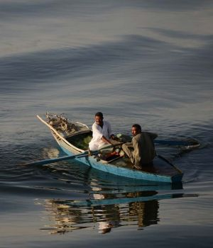 Morning Commute on the Nile by