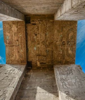 Edfu Temple Ceiling Art, Egypt by