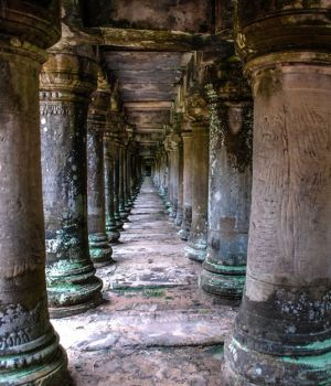 The Columns of Angkor Wat, Cambodia by