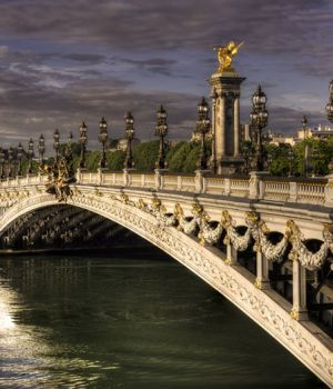 Daybreak on the Pont Alexander III Paris 2017 by