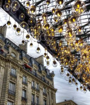 Lanterns of Le Bon Marché Paris 2015 by