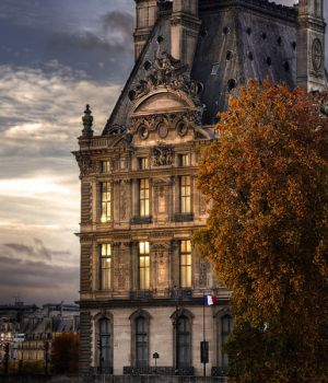 Sunset on The Louvre Paris 2015 by