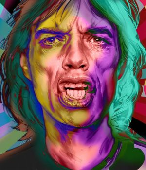 Mick Jagger - Pop Art by